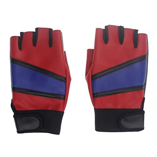 erstellbare Leder Handschuh für Frauen Mädchen Kind Cosplay Kostüm ()