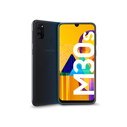 Samsung Galaxy M30s Display 6.4″, Nero, 64 GB Espandibili, RAM 4 GB, Batteria 6000 mAh, 4G, Dual SIM, Smartphone, Android 9 Pie – Versione Italiana [Esclusiva Amazon]