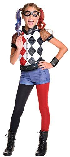 Generique - Harley Quinn Kostüm für Mädchen - Super Hero Girls (Super Hero Kostüm Mädchen)