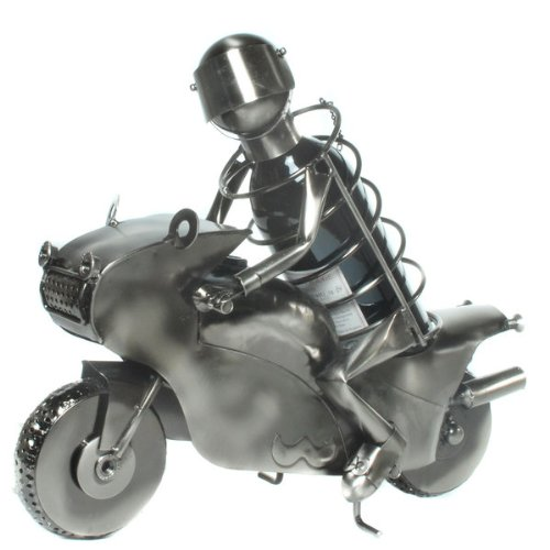 La Le Cadeau Parfait pour Les Amateurs de Bon vin ou vélo de Support pour Bouteille de vin Moto/Pilote en métal Amoureux