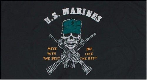 fahne-us-marines-totenkopf-flagge