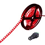 JOYLIT Rote DC12V LED Leiste Streifen Licht 5m 300LEDs 5050 SMD IP20 Nicht Wasserdicht Lichterkett