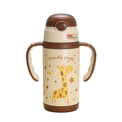 LALLing 2019 350 ml tragbarer Seilgriff Schüler-Isolierflaschen 304 Edelstahl Baby Stroh Thermoskanne Tasse Wasser Flasche Kinder Wasserkocher