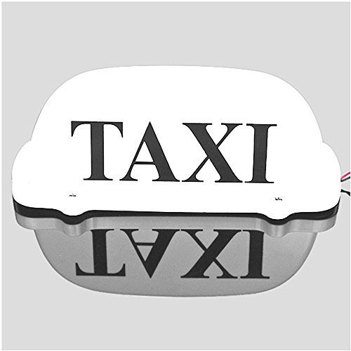 taxi - top - licht / neue led - dach taxi - schild 12v mit magnetischer basis, taxi kuppel licht weißes top verkaufen
