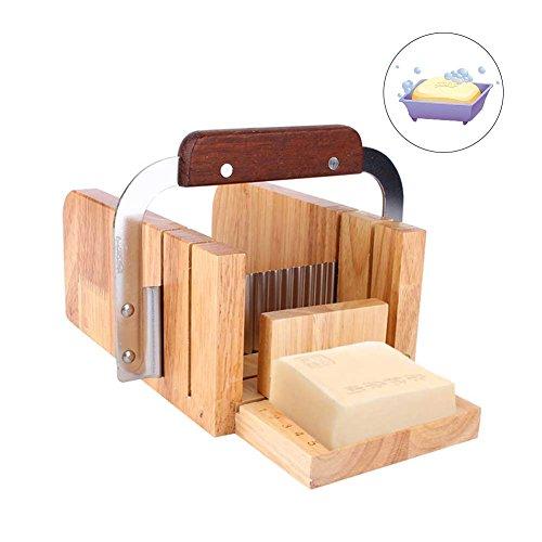 Juego para Hacer Jabón Conjunto de Herraminetas Cuchillo de Tableta Cuchillo de Onda Dispensador de Jabón Modelo de Jabón de Madera