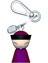 A di Alessi Mr. Chin Porte-clés en résine thermoplastique décoré à la main