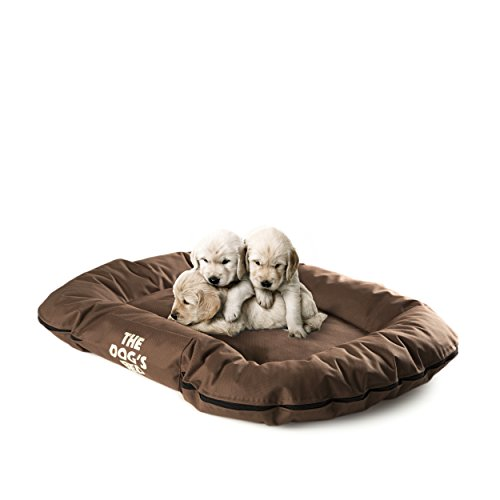 DAS HUNDEBETT, Premium S/M/L/XL, wasserdichte Hunde- und Welpenbetten in vielen Farben, strapazierfähiges Oxford-Gewebe von höchster Qualität & für den Komfort von Hunden entworfen, maschinenwaschbarer Bezug, bequemes Bett & (King Kronen Kunststoff)