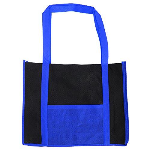 Bags By Jassz Hibiscus - Borsa Tipo Shopper Due Colori con Tasca Blu (Royal/Black)
