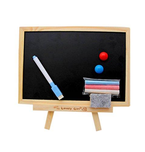 Cosanter Tafel Schreibtafel mit Kreide und Tafel-Radiergummi für Message Board Signs,25.5x17.8cm