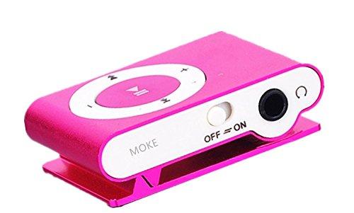 MOKE neue Mini-Metall-MP3-Unterstützungs-Mikro-Sd TF USB-Media-Spieler-Musik-gelegentliches für Sport u. Laufende MEMORY EXPANDABLE OBEN 16GB (KEINE SPEICHER- / Sd-Karte) (Rose) (Wie Zum Download Von Mp3-player)