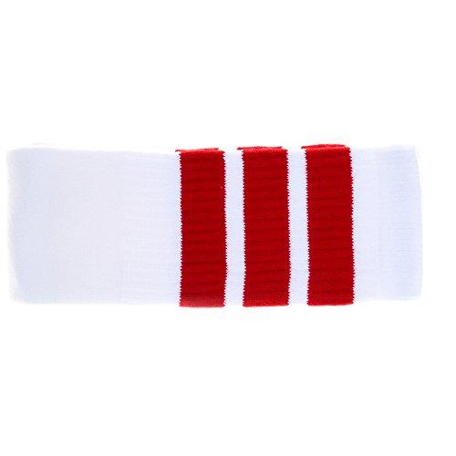 Zoll Knie hoch Weiße Röhrensocken mit roten Streifen (Kostüme Der 1970er Jahre)
