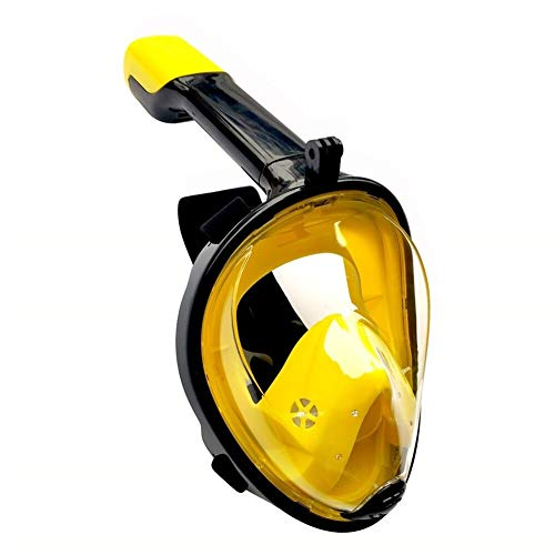 JYSL Vollgesichts-Schnorchelmasken 180 View Anti-Fog Anti-Leak Schnorchel Scuba Underwater Diving Mask Rot/Schwarz/Blau/Grün (Color : S02, Size : L/XL)