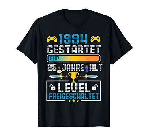 25 Geburtstag Tshirt Video Gamer 1994 Level freigeschaltet -