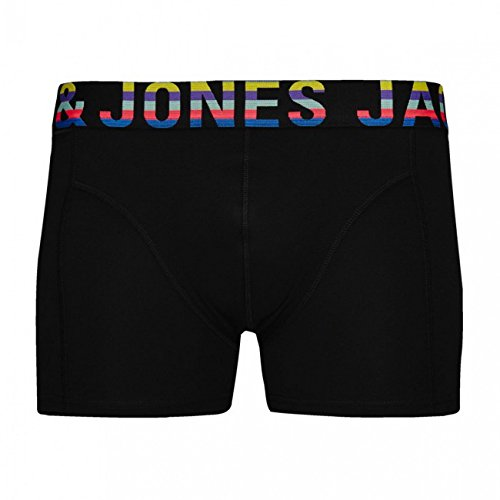 Jack & Jones Herren Boxershort JJACMIXTYPE TRUNKS NOOS 2er Pack Black