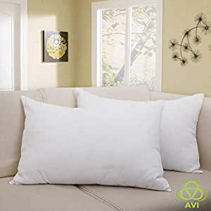 AVI Terry Cotton Waterproof Pillow Protector/Pillow Cover (Set of 2) -17 Inch x 27 Inch- White