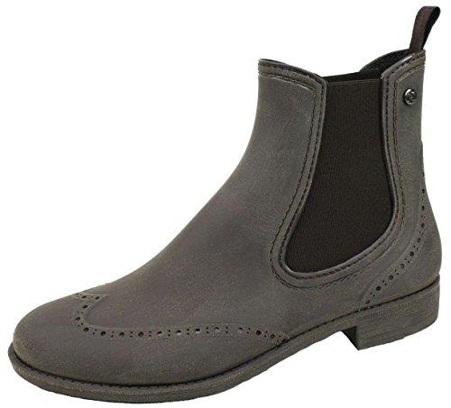 BOCKSTIEGEL® CHELSEA Donna - Mezzo Stivali di gomma alla moda | Chelsea Boots | Impermeabile | Moda | Design esclusivo Brushed – Brown
