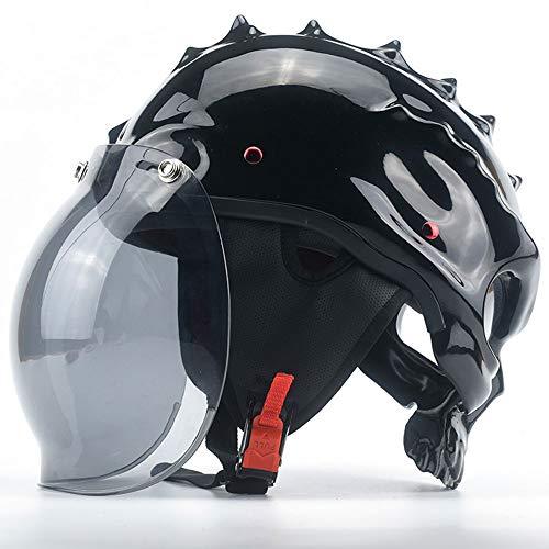 Cascos moto Casco, medio casco seguridad, calavera