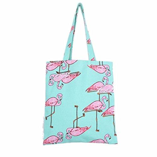 winwintom-women-flamingos-shoulder-bag-shopping-bag-travel-bag-green