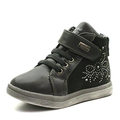 MS007 Miss Sixty with side zip Baby Ankle Boot for Girls >     > Bébé Bottines avec fermeture à glissière latérale pour les filles Grey (gris)