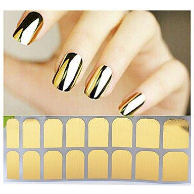 MZP 1 Autocollant d'art de clou Autocollants 3D pour ongles Feuille de bandes de dénudage Abstrait Maquillage cosmétique Nail Art Design , silver