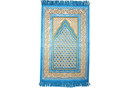 Gebetsteppich | Blau | 67 x 115 cm | traditionell | schlicht