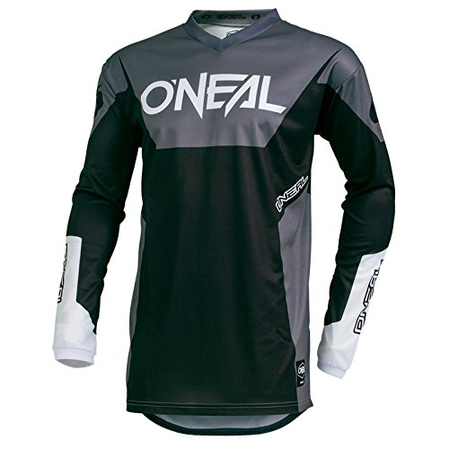 O'Neal Element Racewear Motocross Jersey MX Enduro Cross Trikot Mountain Bike Motorrad, 001E, Farbe Schwarz, Größe S (Off-road-mountain-bike)
