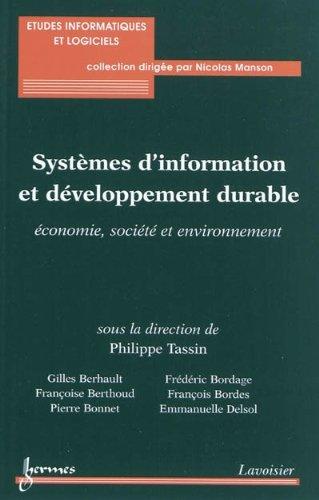 Systèmes d'information et développement durable : Economie, société et environnement