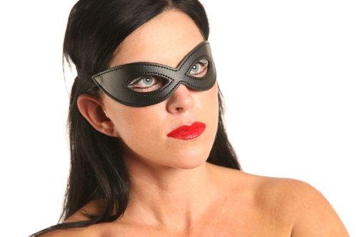 schwarze Augen Maske (Leder Schwarz Augen)