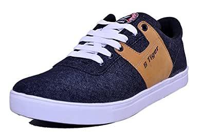 Black Tiger Men's Black Sneakers-9 UK/India (43 EU) (8082)