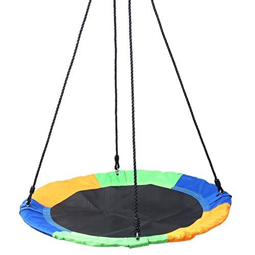 XL- Saucer Tree Swing Flying 150kg Riemen Verstellbare Multi-Strang-Seile Buntes Safe & Langlebiger Schaukelsitz für Kinder Erwachsene