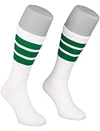 Skatersocks 19 Inch Unisex Tube Socken Strümpfe weiß grün gestreift