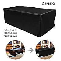 GEMITTO Heavy Duty 7/8/9 ft Snooker Pool Table Dust Cover Anti-UV Tear Resistant Polyester Fabric Outdoor Furniture Cover black 260 * 135 * 82cm