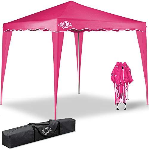 Deuba® Pavillon Capri 3x3m wasserdicht Pop-Up inkl. Tasche UV-Schutz 50+ Faltpavillon Gartenzelt Partyzelt Pink