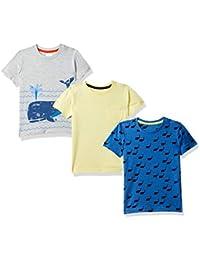 ec82af766 Mothercare Baby Boy's Animal Print Regular fit T-Shirt (Pack of 3)