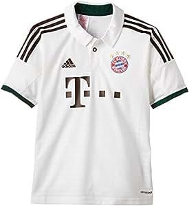 adidas Kinder T-Shirt FC Bayern München A JSY Y, Runwhi/Musbro, 128, G73666