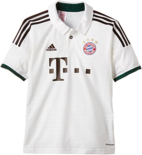 adidas Kinder Trainingsshirt FC Bayern München Trikot Away, Weiß / Braun, G73666, Gr. 164