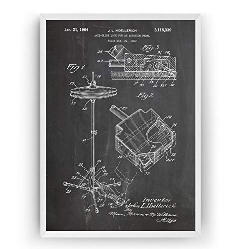 und Pedal Patent Poster - Jahrgang Drucke Drucken Bild Kunst Geschenke Zum Männer Frau Entwurf Dekor Vintage Art Gifts For Men Women Blueprint Decor - Rahmen Nicht Enthalten ()