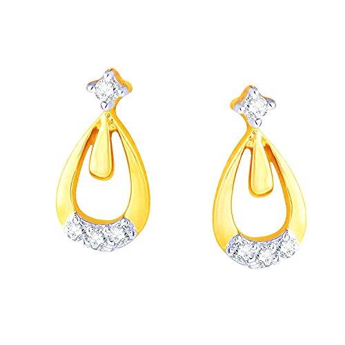 Giantti 14carats Diamant pour femme Dangler Boucles d'oreilles (0.0484CT, VS/Si-clarity, Gh-colour)