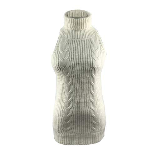 YOUJIA Frauen ärmel Open Back Sweater Anime Cosplay Pullover (Weiß) - Open-back-pullover-kleid