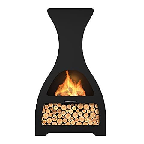 Premier Decorations High Quality Steel, Innovative, Hard Wearing and Durable Design Patio WINE CHIMINEA with Anthracite Paint Coating which Provides High Resistance to Heat, Rust and Colour Fading
