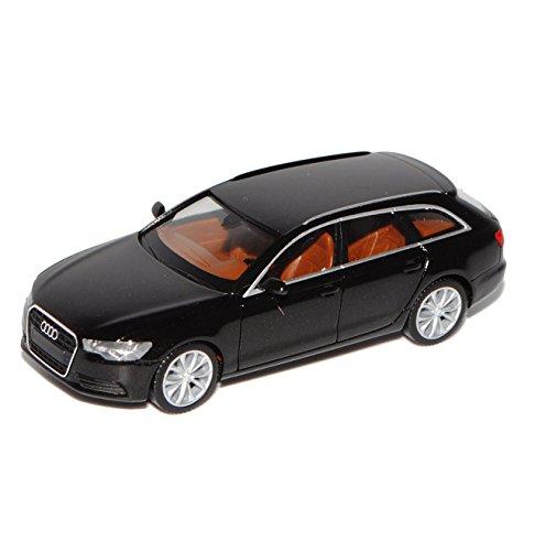 Preisvergleich Produktbild Audi A6 C7 Avant Kombi Schwarz Ab 2011 H0 1/87 Herpa Modell Auto mit individiuellem Wunschkennzeichen