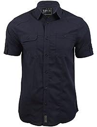 Chemise pour homme 'Sigmar' en tissu façonné et manches courtes de Dissident