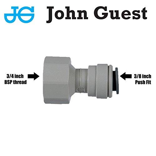 John Guest - Adattatore a scatto per rubinetti, attacco BSP