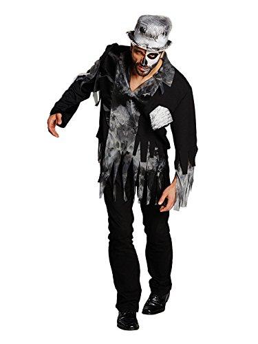 Schauriger Zombie Bräutigam Halloween Kostüm schwarz-grau - Bräutigam Zombie-kostüm