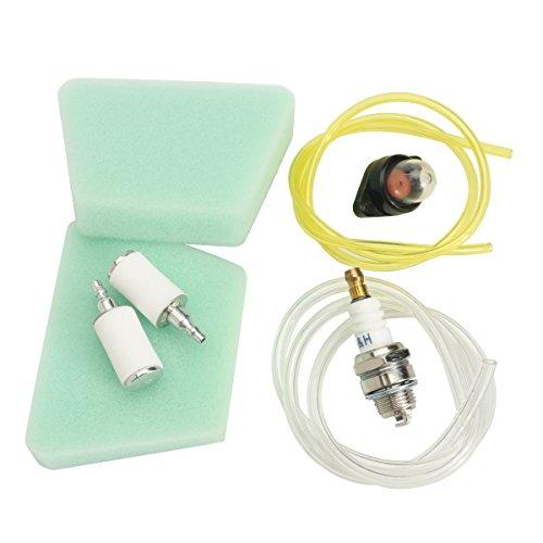 Forspero Primer Glühbirne Fuel Line Filter & Spark Plug Kits für Poulan 222 262 1900 1950 1975 2025 -