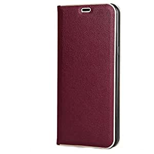 ZOUK Samsung Galaxy S8 Plus Flip Cover Strong Magnetic Flip Wallet Case New Design For Samsung Galaxy S8 Plus (Wine Red)