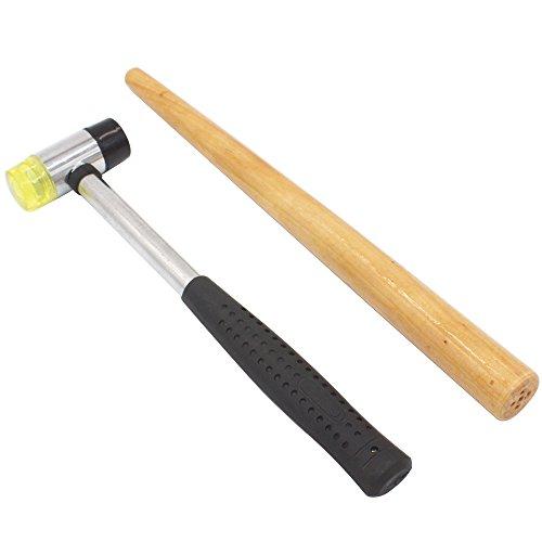 Hammer Juwelier (cnmade Juweliere Gummi Hammer Mallet mit Holz Ring Dorn Ringmaß geliefert Größe Einstellknopf Repair Tools Schmuckherstellung Kit)