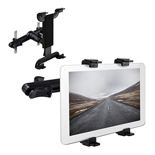 Enshey Support Tablette Voiture, Porte Tablette / Téléphone Voiture pour Appui-tête Universel Auto, Rotation 360° - pour l'iPad Air 2/3/4/5 Mini Comprimé