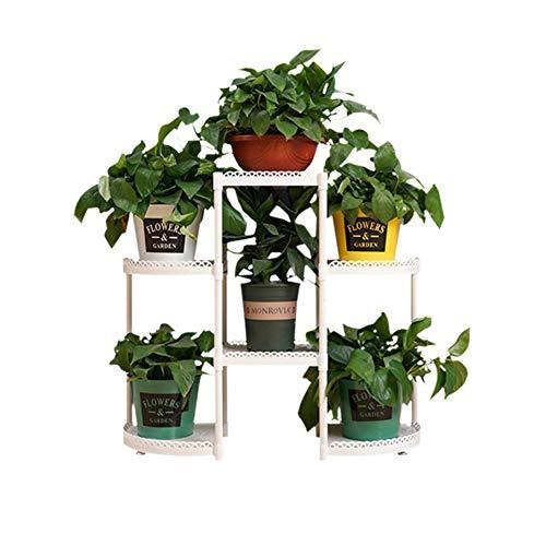 LXFENG Pflanzenständer Blumentopf Rack Blumenständer Mehrschichtige Pflanze Topfregal Lagerregal Regal Für Indoor Outdoor Balkon Dekorative Home Life Rack (Leichte Indoor-pflanzer)