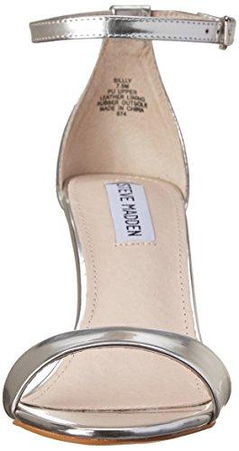 Steve Madden Silly - Sandale per damen versilbert (Silver Foil)